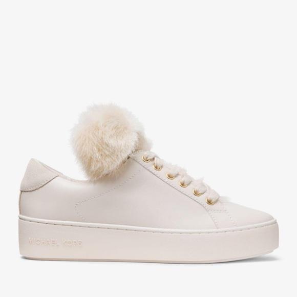 michael kors fur sneakers